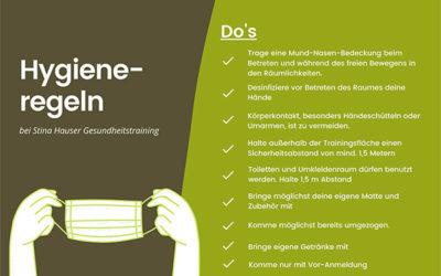 Hygienemaßnahmen und Verhaltensregeln