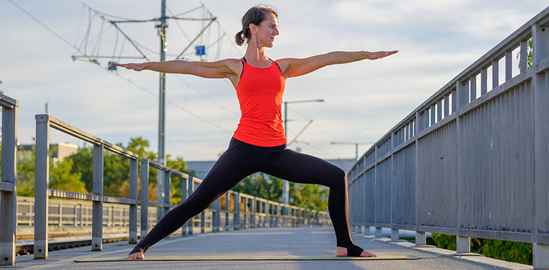 Yoga Asana der Krieger